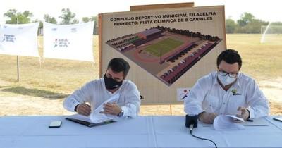 SND construirá la primera pista de atletismo del Chaco y dará empleo a más de 500 personas
