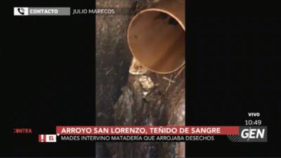 HOY / Julio Marecos, director de Fiscalización del ministerio del Ambiente, sobre situación del Arroyo San Lorenzo