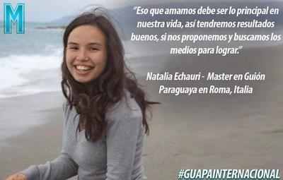 Plasmar los sueños y lograr las metas, parte de la historia de Natalia Echauri
