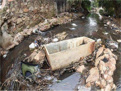 Desidia e inconsciencia serpentean en  castigado arroyo San Lorenzo
