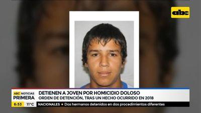Detienen a joven por un homicidio doloso ocurrido en 2018