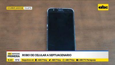 Joven robó un celular a un septuagenario
