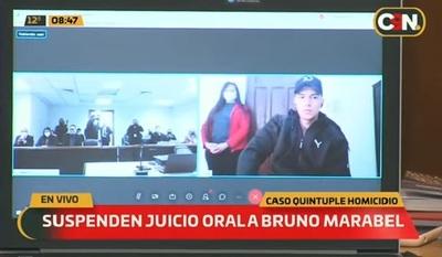 Suspenden juicio por abandono de representante de Bruno Marabel