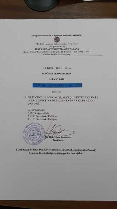 Elegirán mañana a Luciana Porcionato como titular de la JD en el marco de Operación Cicatriz