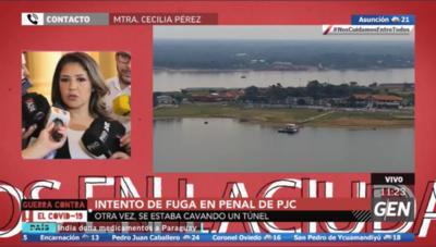 HOY / Cecilia Pérez, ministra de Justicia, sobre intento de fuga en penal de PJC