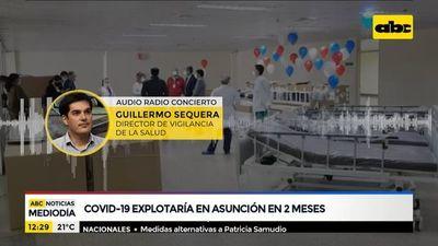 """COVID-19 """"explotaría"""" en Asunción en 2 meses"""