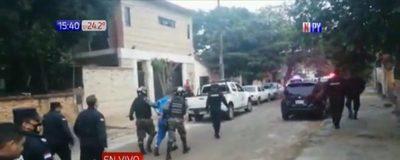 Capturan a presuntos asaltantes tras persecución y balacera