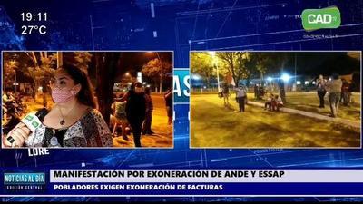 Concepción: Ciudadanos se manifiestan por exoneración de ANDE Y ESSAP
