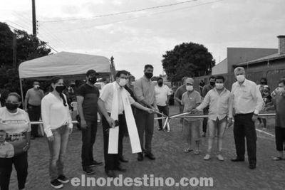Se inauguraron obras de empedrado en la fracción San Ramón, mejorando la calidad de vida de numerosos vecinos del lugar