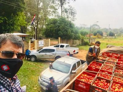 Incautan 500 cajas de tomate de supuesto contrabando