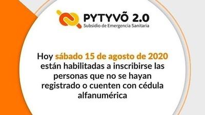 Pytyvõ 2.0: hoy es el último día de inscripción al programa