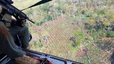 Senad inicia operativo contra el narcotráfico en Amambay