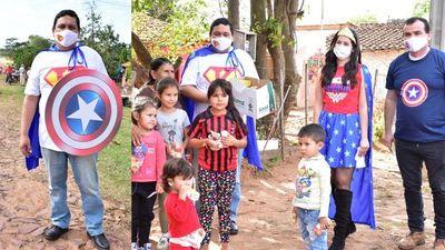 "Súper ""K""ambato entregó merienda a niños de barrios periféricos de San Juan Bautista"