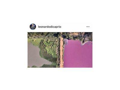 DiCaprio publica sobre contaminación de laguna