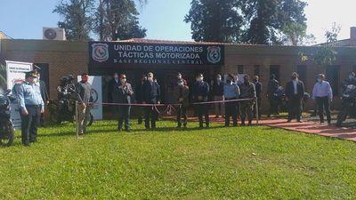 """Inauguran nueva base para la """"joya"""" de la Policía Nacional"""