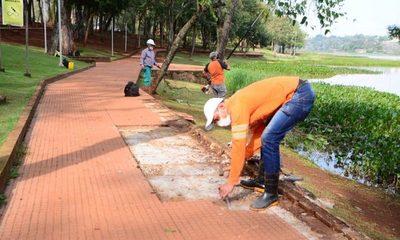 Continúan reparaciones en el Lago de la República