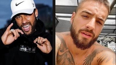 "En redes dicen que Neymar hizo ""soplo"" a Maluma"