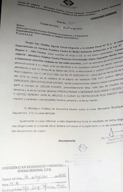 Acusado por ESTAFA y LAVADO DE DINERO usa perfil falso para amenazar a detractores