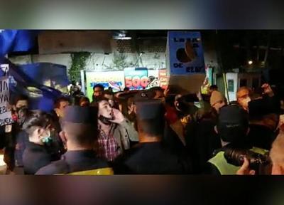 """Excomisario Isasi fue acusado de """"asesino"""" por manifestantes frente a residencia de Cartes"""