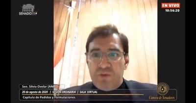 Silvio Ovelar pide que Senado deje de lado diferencias partidarias