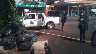 Constatan mala disposición de residuos en zona de toma para Covid-19 en San Lorenzo