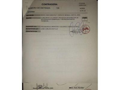Marito y Cartes inscribieron a  Concordia ante el TEP