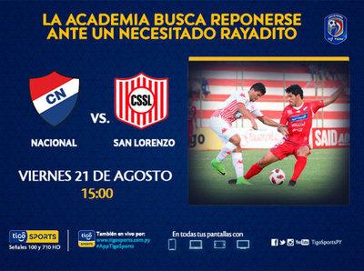 Nacional y San Lorenzo abren otra jornada del Apertura