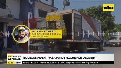 Bodegas piden trabajar de noche por delivery