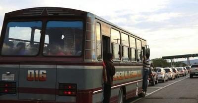 Proponen suspender ida de buses al interior