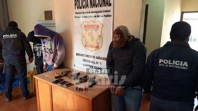 Investigación Criminal detienen a 4 supuestos sicarios en Cápitan Bado