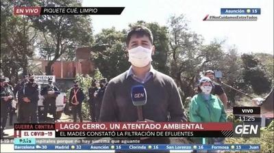 HOY / Ministerio del Ambiente y Desarrollo Sostenible (MADES) constató la filtración de efluentes en el lago Cerro