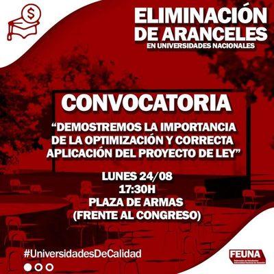 """Federación de Estudiantes de la UNA harán """"Sentata en pupitres"""""""