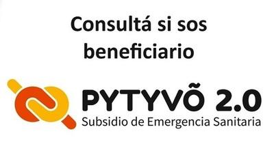 ▶ Consultá si estás en la lista Pytyvõ 2.0