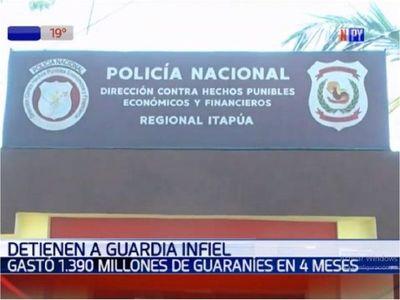 Guardia de seguridad detenido por un faltante de G. 1.300 millones