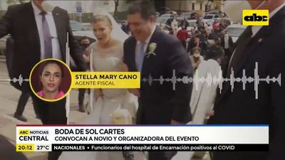 Fiscalía convoca a novio y a organizadora de boda de Cartes-Bendlin