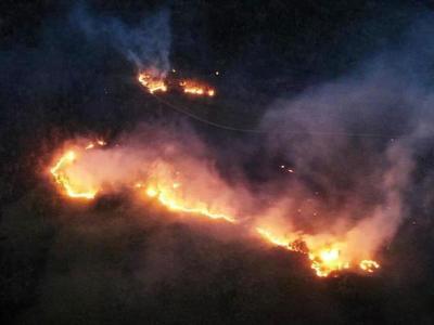 Incendio en el Cerro Patiño •