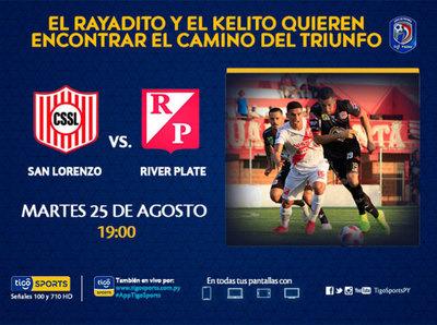 San Lorenzo y River Plate necesitan un triunfo