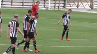 Con Almirón de titular, el Newcastle golea en su primer amistoso