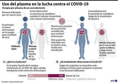 El plasma de infectados con covid para luchar contra la enfermedad