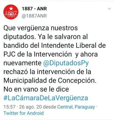 Diputados Colorados insaciables vuelven a apostar a la impunidad salvando al intendente de Concepción