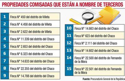 Inmuebles comisados en caso de narcotráfico, a nombre de terceros