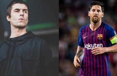 Liam Gallagher asegura que Messi ya está 'en camino al club Manchester City'