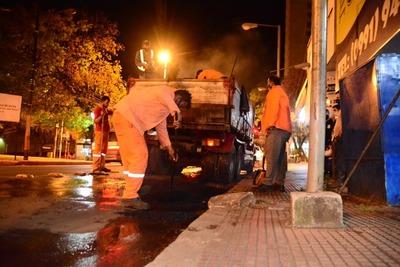 Se repara avenidas tras obras de cableado subterráneo