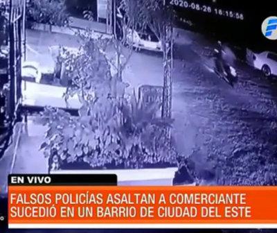 Falsos policías asaltan a una familia en Ciudad del Este