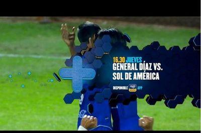 General Díaz y Sol de América se miden en el Nido