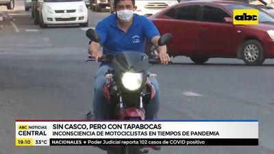 Inconsciencia de motociclistas en tiempo de pandemia