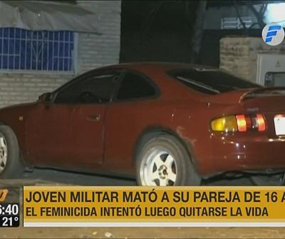 Militar mata a su pareja y luego intenta suicidarse