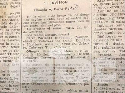 El superclásico y la gripe española en 1919: se jugó con público, Olimpia remontó y ganó 2-1 con un gol polémico