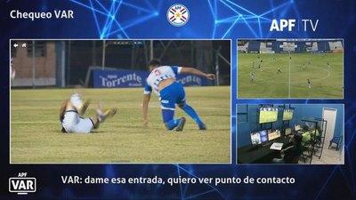 Así fue la revisión del VAR en los partidos de 12-Olimpia y Guaraní-Nacional