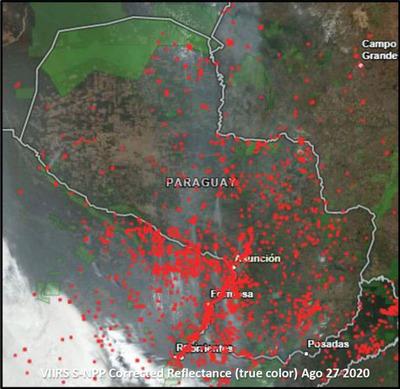 Cerca de 3.000 incendios forestales cubren de humo al país